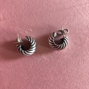 Authentic David Yurman puff hoop earrings